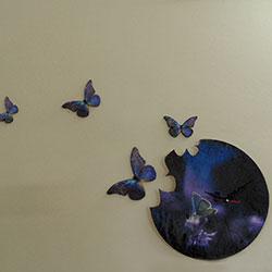 Настенные часы бабочки своими руками